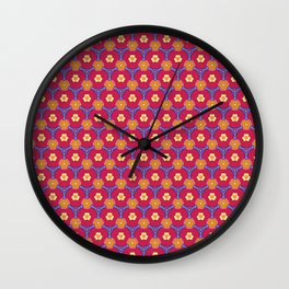 Red Tie Print Wall Clock