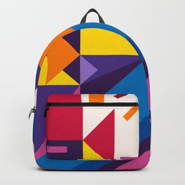 Abstract modern geometric background. Composition 17 Backpack