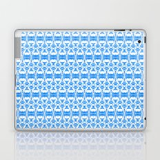 Dividers 02 in Blue over White Laptop & iPad Skin