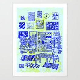 Blue atelier Art Print