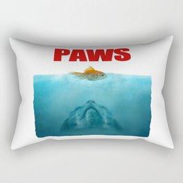 Paws poster Jaws Rectangular Pillow