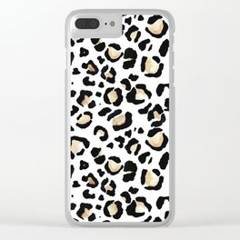 Leopard Animal Print Watercolour Painting Clear iPhone Case