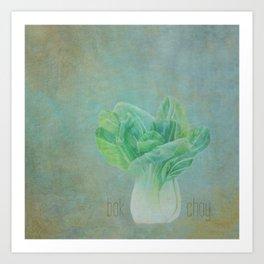 Bok Choy Still Life  Art Print