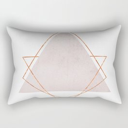 BLUSH COPPER ROSE GOLD GEOMETRIC SYNDROME Rectangular Pillow