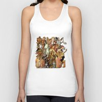 angels Tank Tops featuring Angels by Vesna Bursich