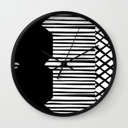 Geoetric Patchwork Wall Clock