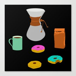 Donuts and Coffee Canvas Print
