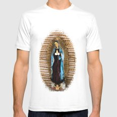 Our Lady of Guadalupe Mens Fitted Tee MEDIUM White