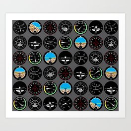 Flight Instruments Art Print