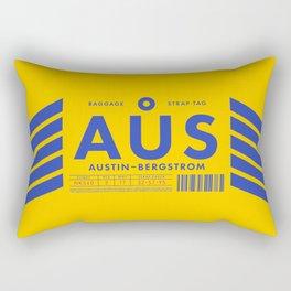 Baggage Tag D - AUS Austin Bergstrom USA Rectangular Pillow
