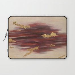 Autumn Skies Abstract Fall Painting Laptop Sleeve