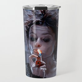 Marla Singer Smokes A Cigarette During Group Therapy - Fight Travel Mug