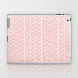 Herringbone Pink Laptop & iPad Skin