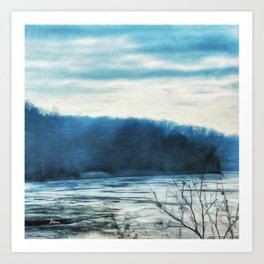 River in Winter Art Print