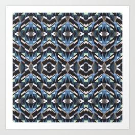 Geometric Garden Pattern Art Print
