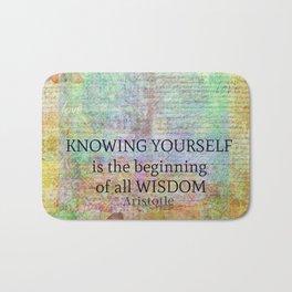 Aristotle WISDOM quote Bath Mat