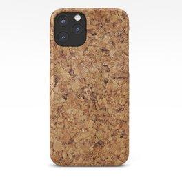 Cork pattern iPhone Case