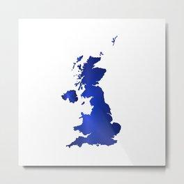 United Kingdom Map silhouette Metal Print