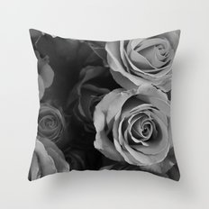 Black Hearted  Throw Pillow