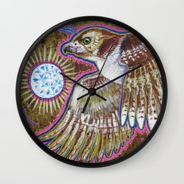 Soaring (Red-Tailed Hawk Painting) Wall Clock