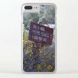 Sign Marking Trails At ... Wildlife Preserve Clear iPhone Case