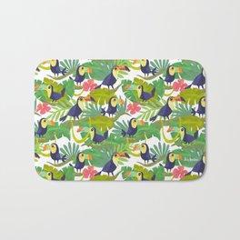Toucan Paradise Pattern Bath Mat