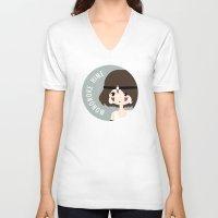 mononoke V-neck T-shirts featuring Mononoke by gaps81