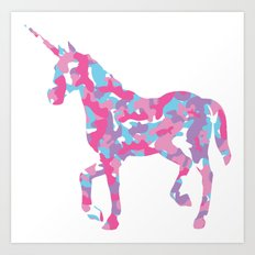 Unicorn's Breakfast Art Print