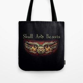 Skull And Beasts 2 Tote Bag