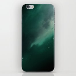 Green Galaxy iPhone Skin