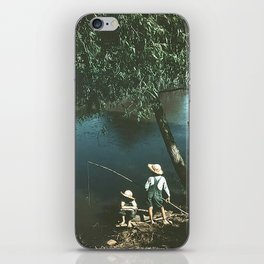 "Vintage Rockwell-Like Photo ""Gone Fishing"" iPhone Skin"