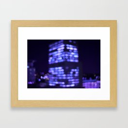 Get lost in the light. Framed Art Print