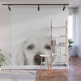 Golden Retriever WhiteDog illustration original painting print Wall Mural