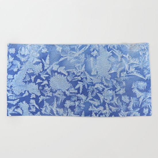 Blue Frozen Freeze Beach Towel