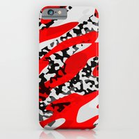 red and Black Camo abstract iPhone 6s Slim Case