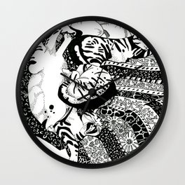 Pasha Cat Wall Clock