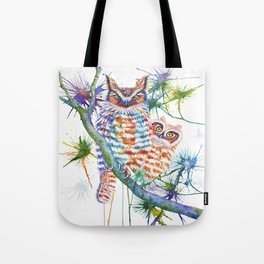 Momma and Baby Owls Tote Bag