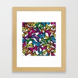 Vibrant Butterflies Framed Art Print