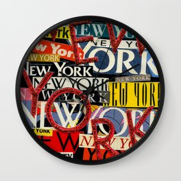 New York New York Wall Clock