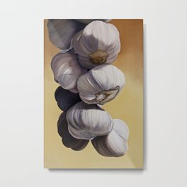 Garlic Still Life Metal Print