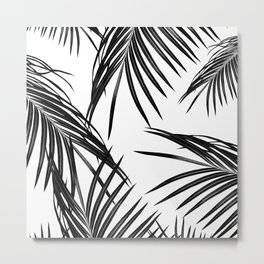 Black Palm Leaves Dream #1 #tropical #decor #art #society6 Metal Print