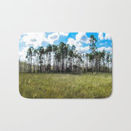 Cypress Trees and Blue Skies Bath Mat