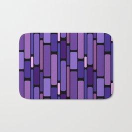 Purple Indigo Retro Blocks Bath Mat