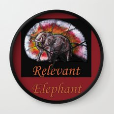 Relevant Elephant Wall Clock