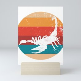 Vintage Scorpion Lover Retro Animal Lovers Gift Mini Art Print
