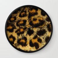 cheetah Wall Clocks featuring Cheetah by Some_Designs