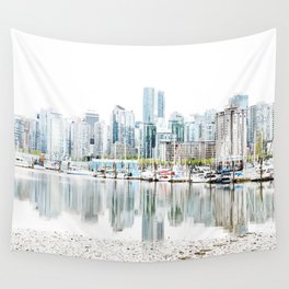 Vancouver Skyline Wall Tapestry