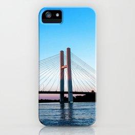 Mississippi River at Burlington, Iowa at Sunset iPhone Case
