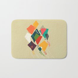 Whimsical kites Bath Mat