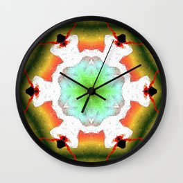 Lightning field Wall Clock
